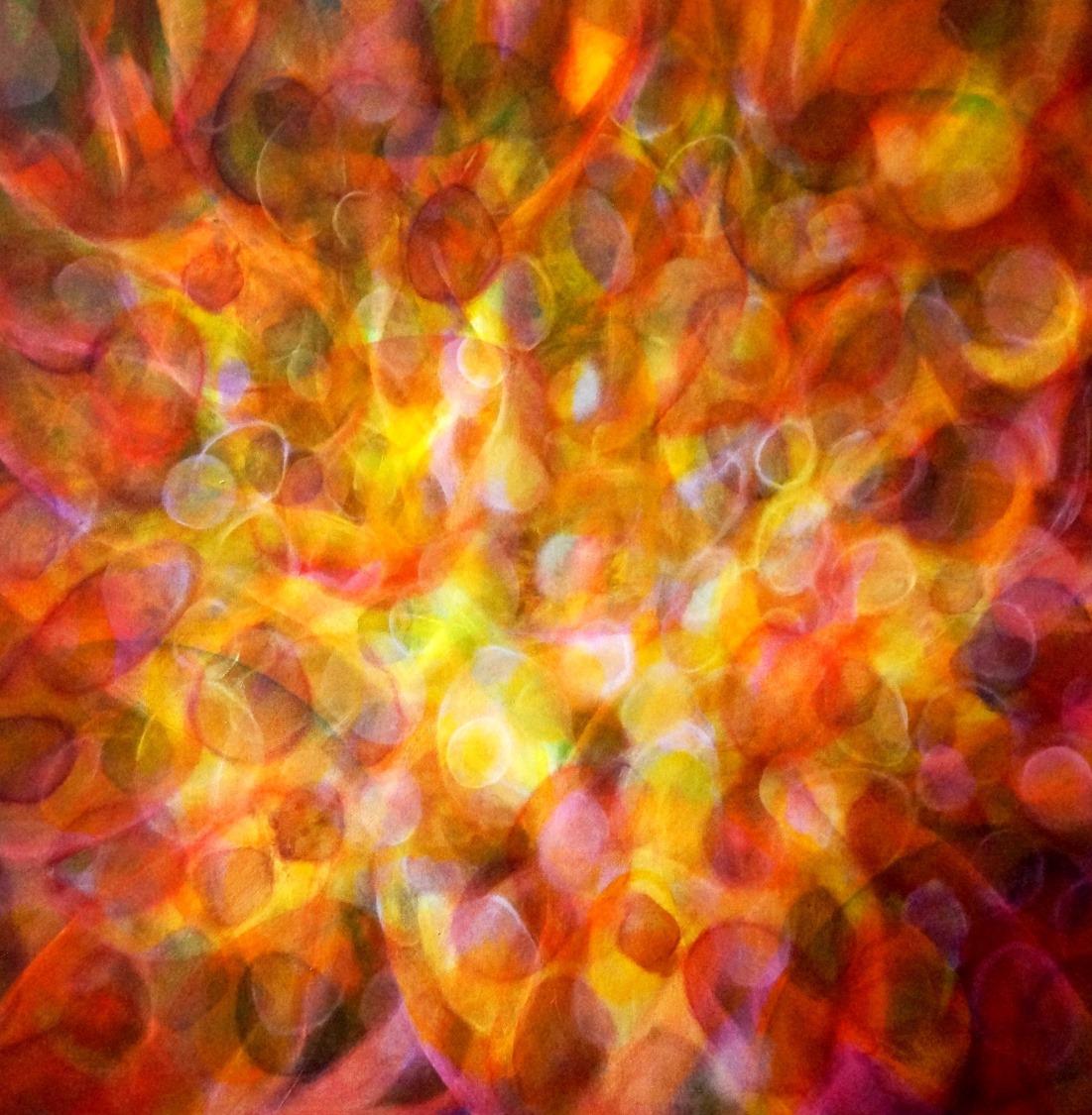 Milena Soyoug - Energiebild Das Auge, , dass durch alle Schichten sieht